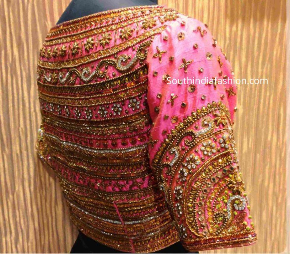 full maggam work pattu saree blouses (1)
