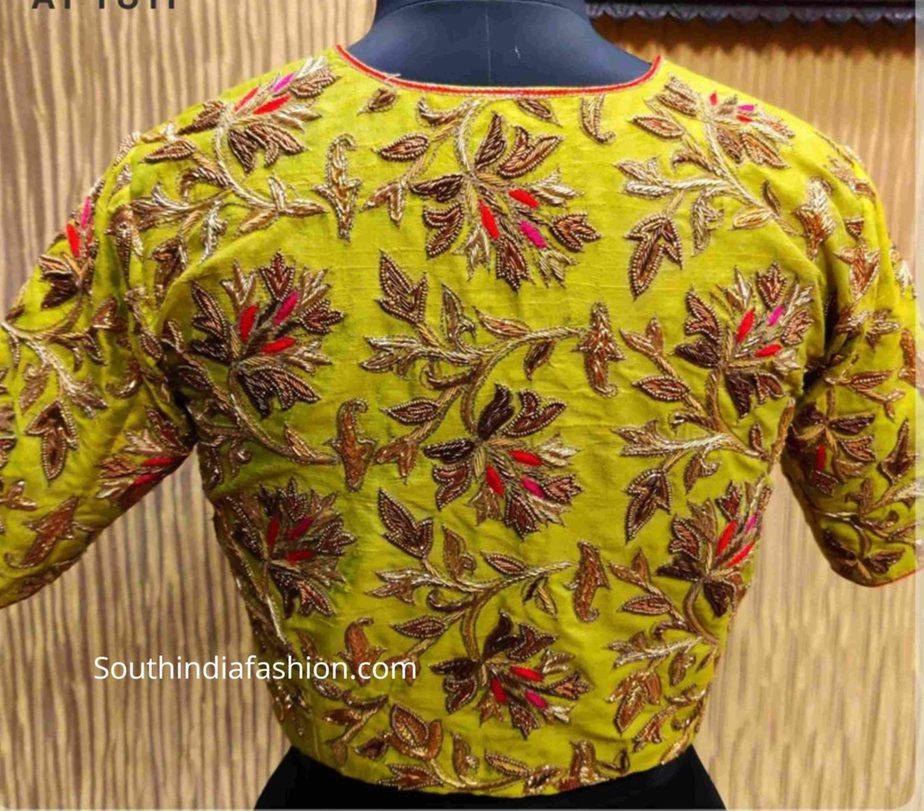 full maggam work pattu saree blouses (2)