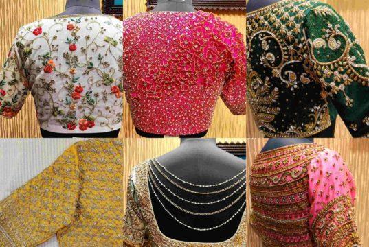 heavy full maggam embroidery blouse designs for kanjivaram sarees 2020