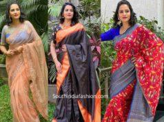 himaja in sarees