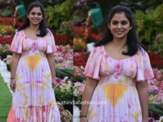 isha ambani holi celebrations in pink tie dye maxi dress