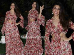 jacqueline fernandez in floral lehenga at isha ambani holi party (1)