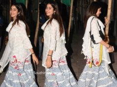 janhvi kapoor in white sharara suit
