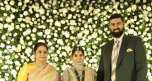 jayasudha son nihar kapoor wedding reception