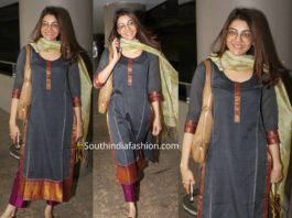 kajal aggarwal casual airport look without makeup