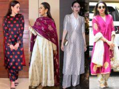 karisma kapoor suits and kurta sets