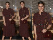 kriti sanon in coach dress