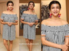 lakshmi manchu checkered mini dress