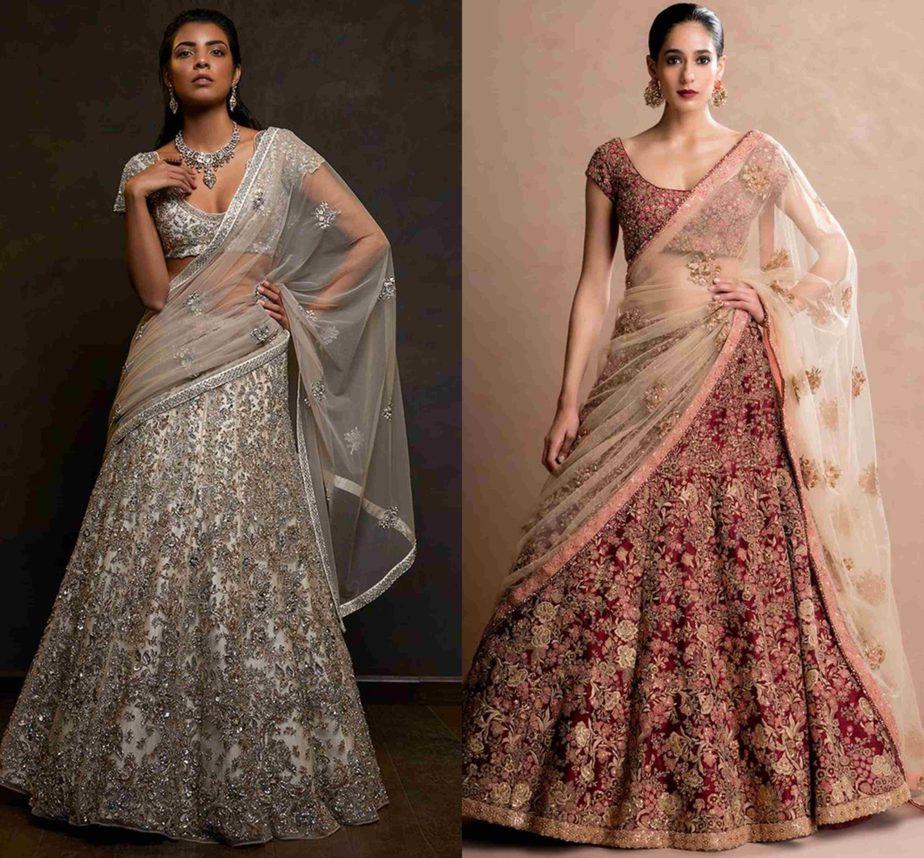 Dupatta draped in saree style