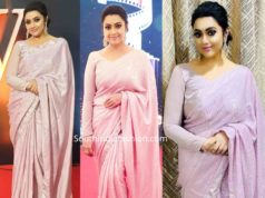 meena in pink sequin saree at jfw movie awards