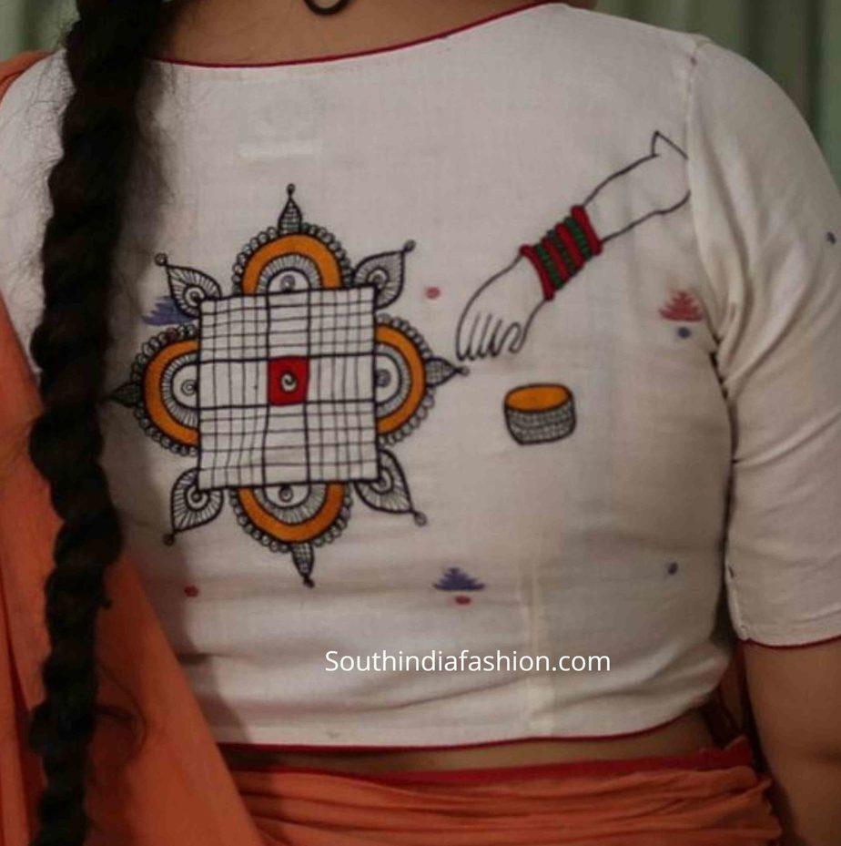 muggu design blouse