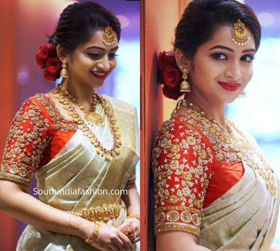 nakshatra nagesh bridal kanjivaram saree (1)