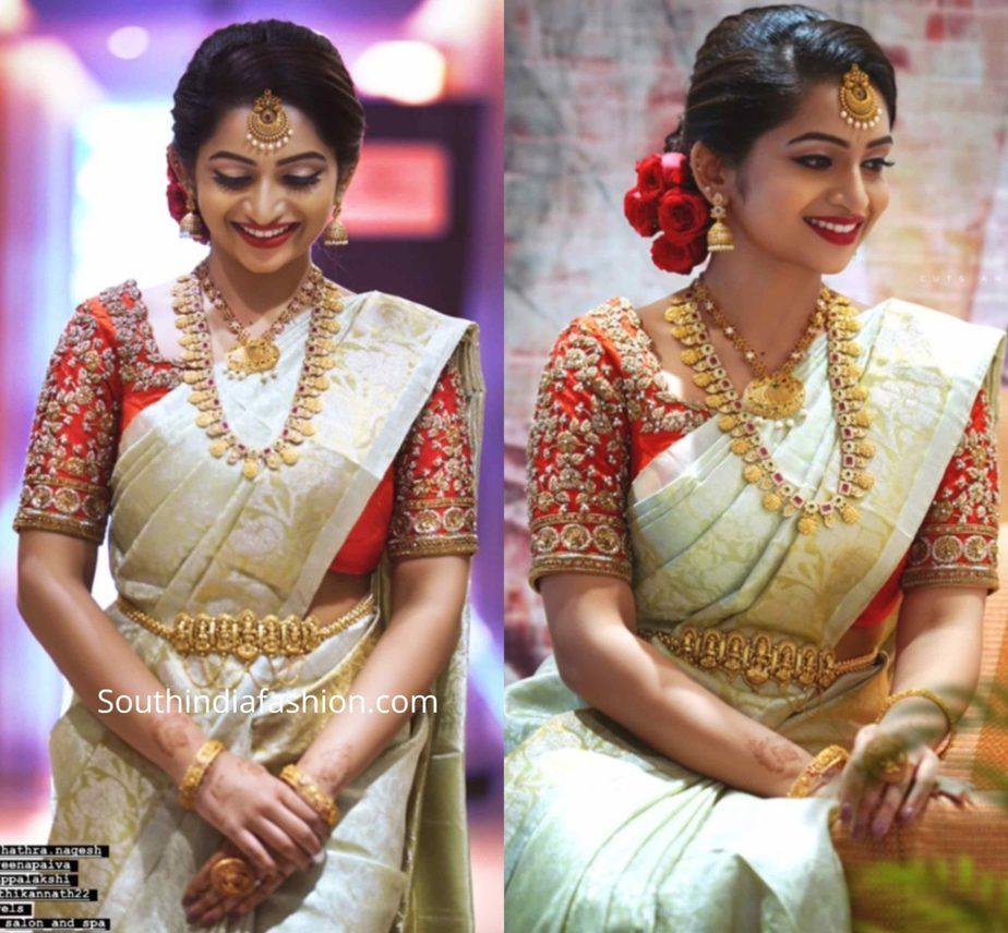 nakshatra nagesh bridal kanjivaram saree