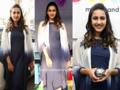 niharika konidela blue dress with jacket