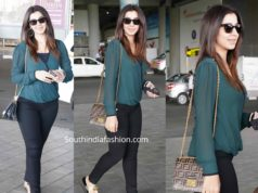 nikki galrani casual airport look
