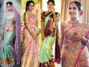 pastel color kanjivaram sarees for weddings