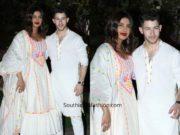 priyanka chopra and nick jonas twinning in white at isha ambani holi party (3)