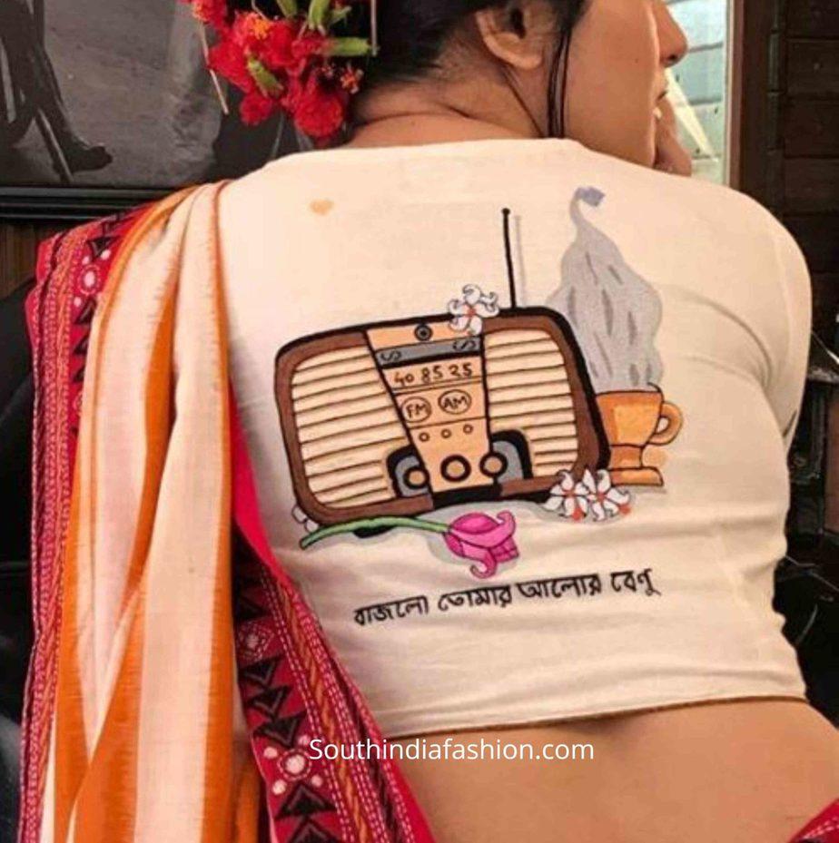 quirky fun saree blouse designs (1)