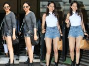 rakul preet singh in mini shorts and tshirt (1)
