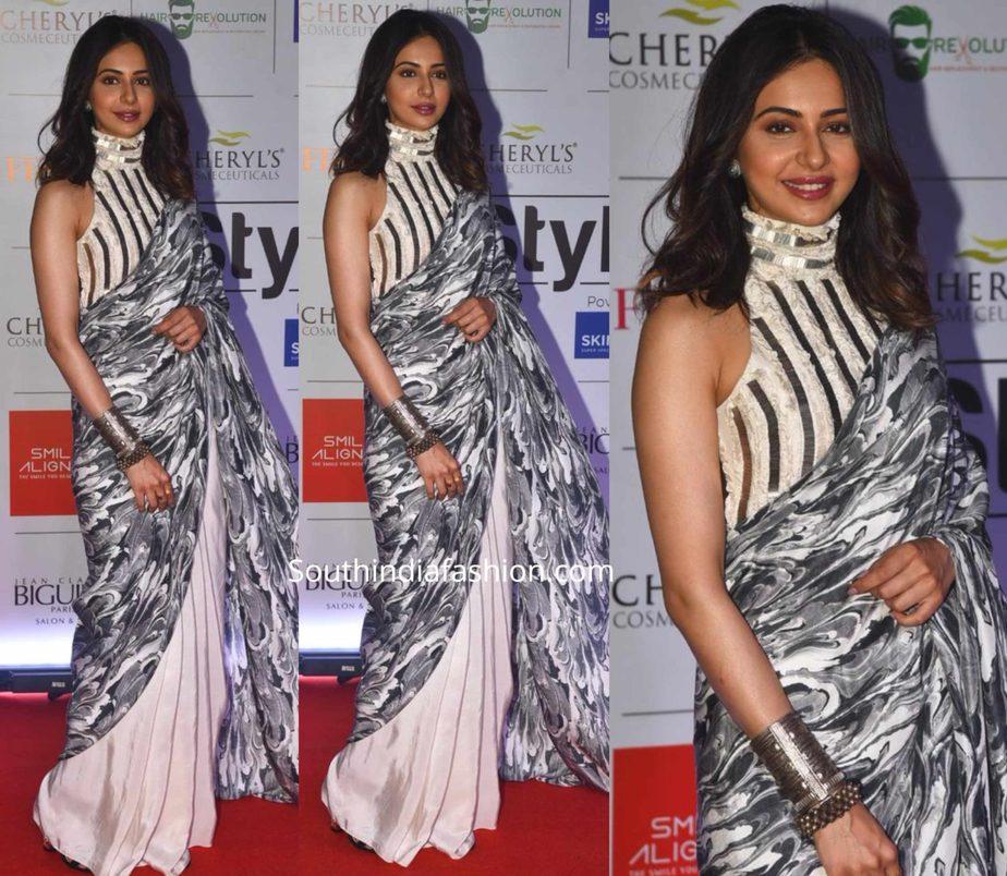 rakul preet singh saree at femina stylist west event