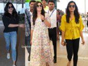 rashmika mandanna in casual wear at airport