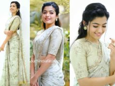 rashmika mandanna in shilpa reddy saree