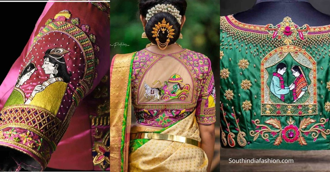 ratham design silk saree blouse designs 2020 (1)