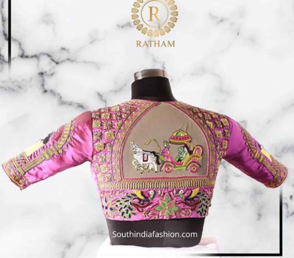 ratham design silk saree blouse designs 2020