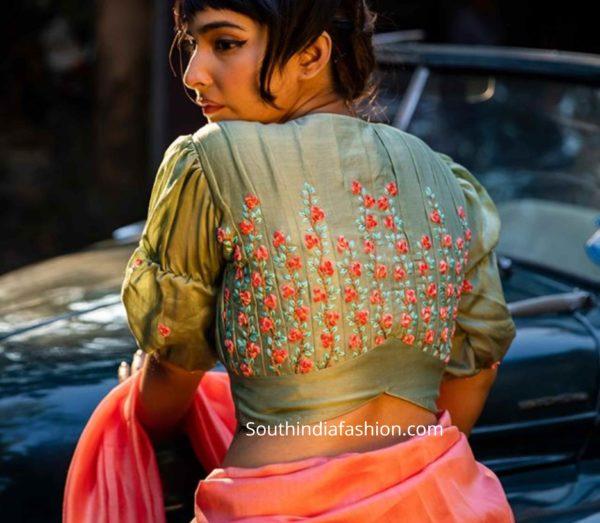 retro saree blouse designs 2020 (1)