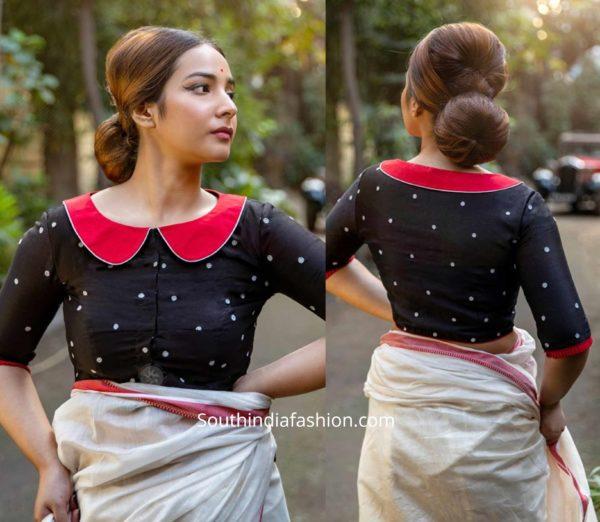 retro saree blouse designs
