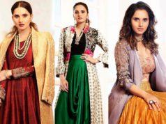 sania mirza indo western outfits on aza fashions photo shoot
