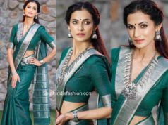 shilpa reddy in green maheswari silk saree (1)