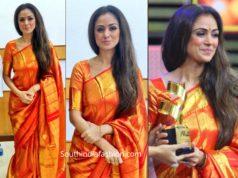 simran in kanjeevaram saree at jfw movie awards