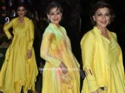 sonali bendre in yellow anarkali suit at isha ambani holi party (2)