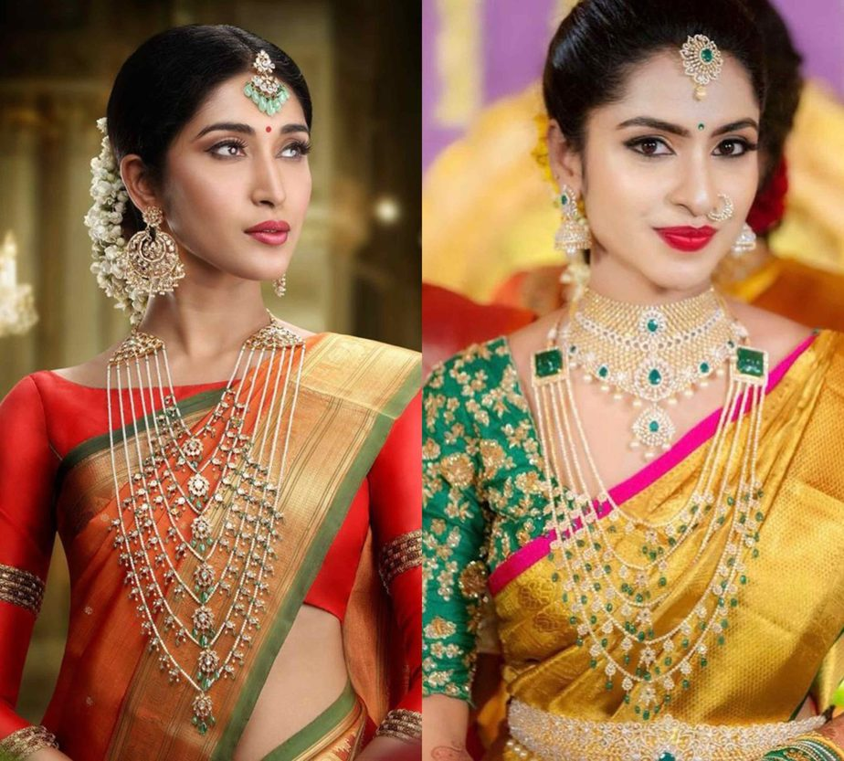 south indian bridal jewelry satlada necklace