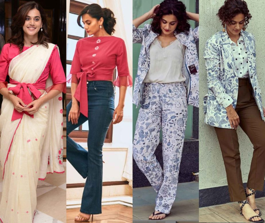 taapsee pannu thappad promotions re purposed outfits