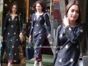 tamannaah bhatia black kurta maroon palazzo pants