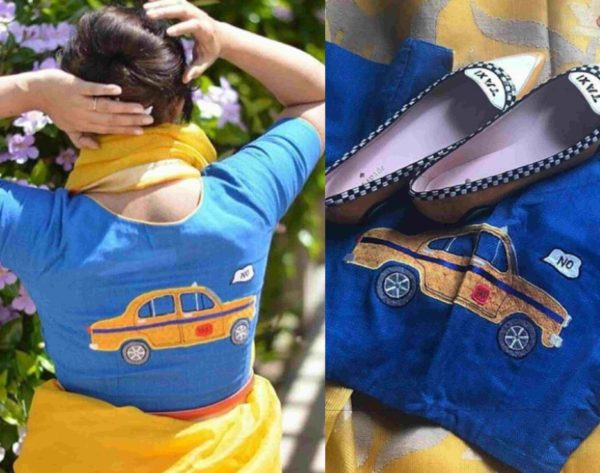 taxi hand embriodery blouse