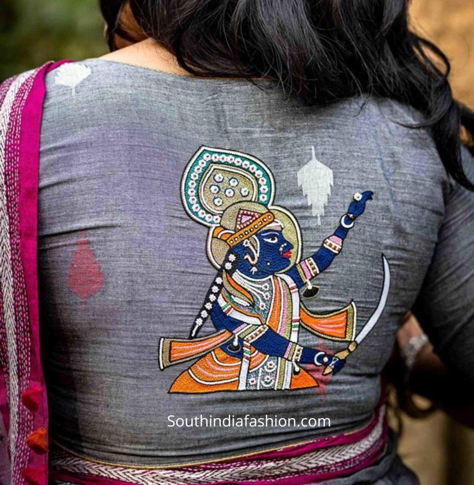 unique saree blouses