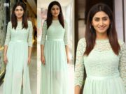 varshini sounderajan pastel blue maxi dress