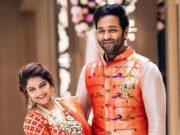 viranica and vishnu manchu in matching paithani outfits (1)
