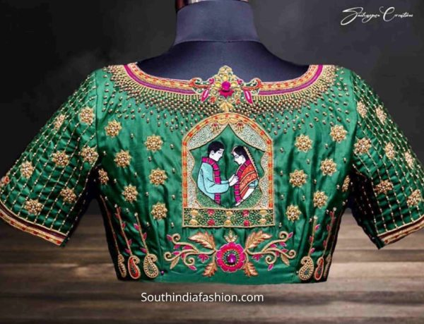 wedding saree blouse designs 2020