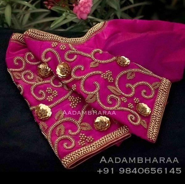 work blouse designs for silk sarees (1)