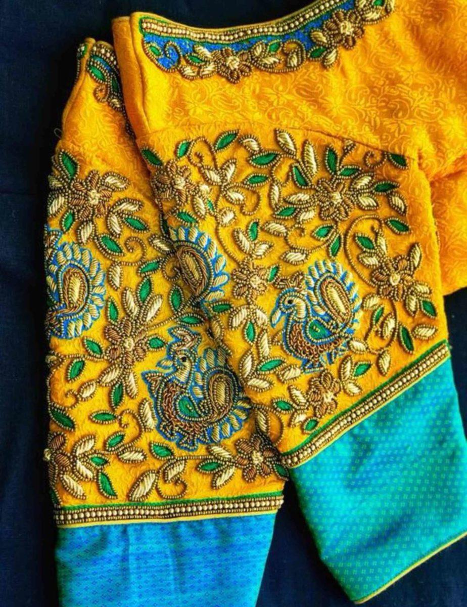work blouse designs for silk sarees (2)
