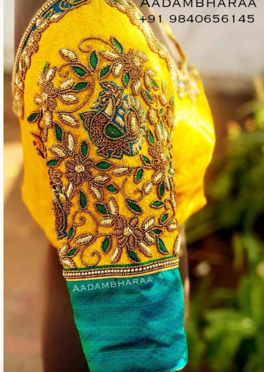 work blouse designs for silk sarees (3)