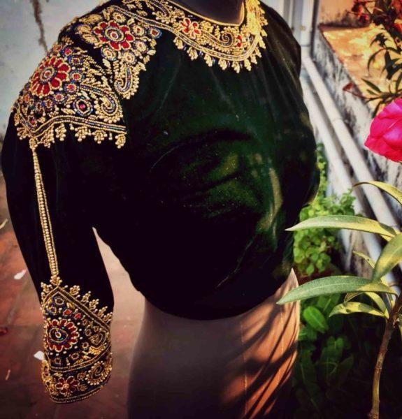 work blouse designs for silk sarees (4)