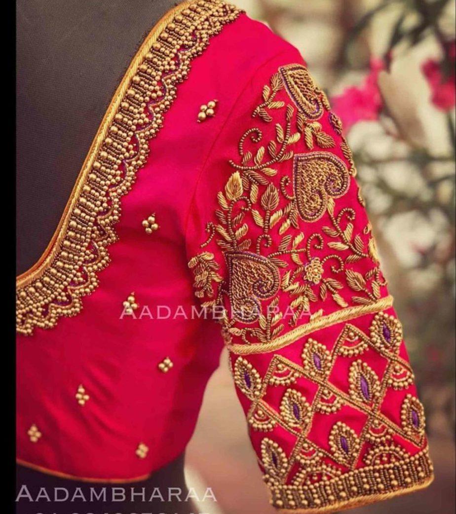 work blouse designs for silk sarees
