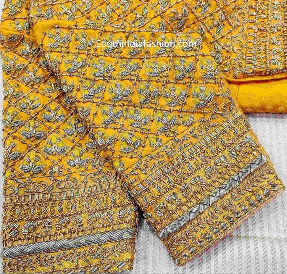 zardosi embroidery blouse for pattu sarees (1)