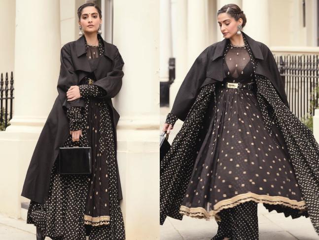 sonam kapoor jacket with kurtis