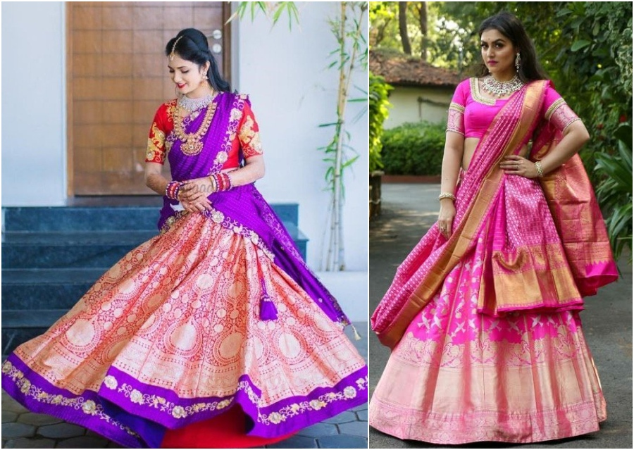 Pattu Lehengas And Half Saree That You Can Consider Picking For your D-Day